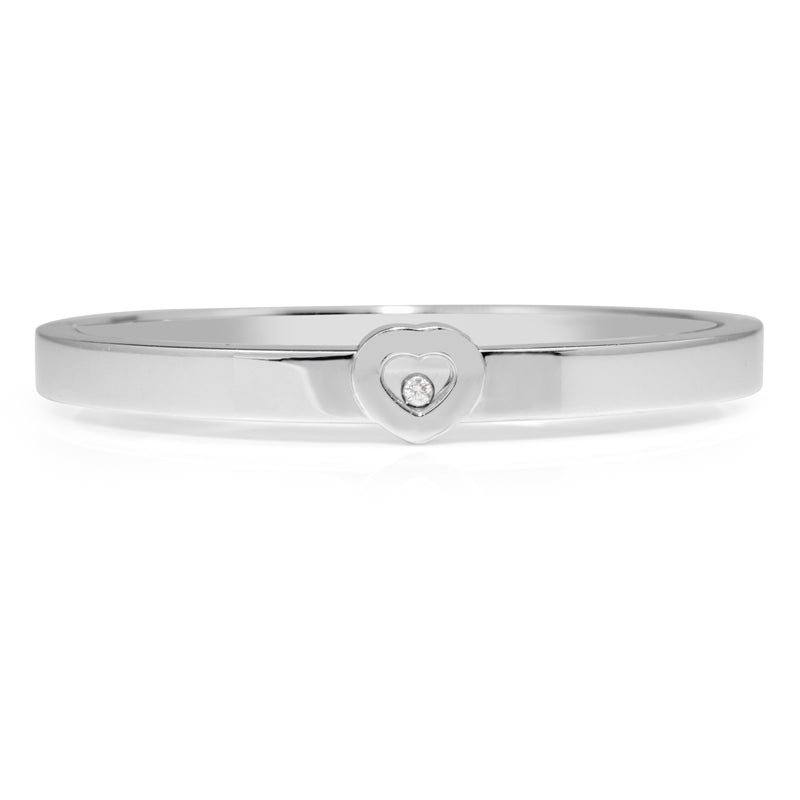 18ct White Gold Chopard 'Happy' Diamond Bangle