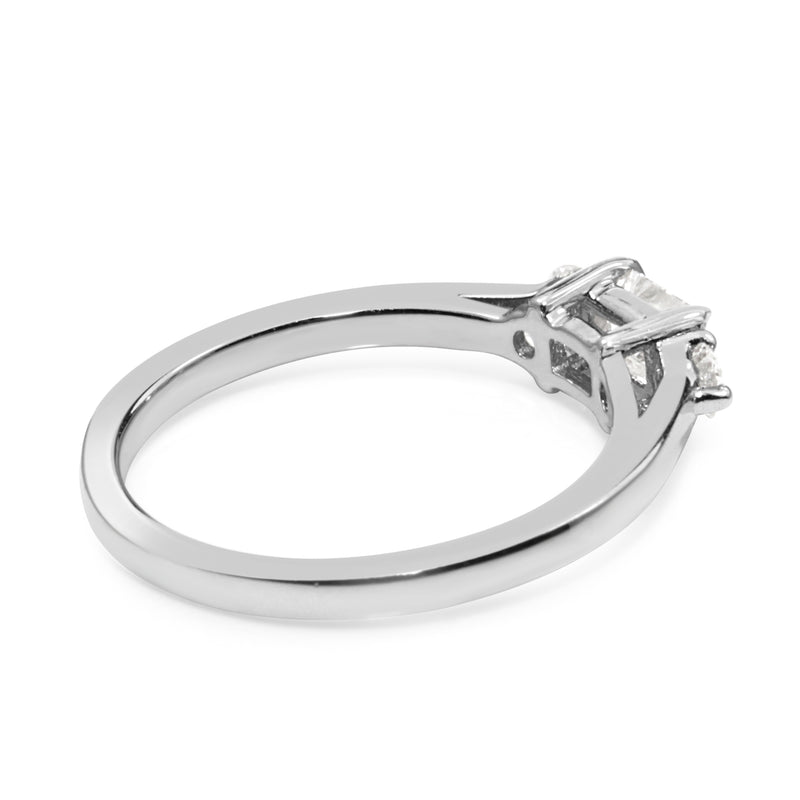 14ct White Gold 3 Stone Diamond Ring
