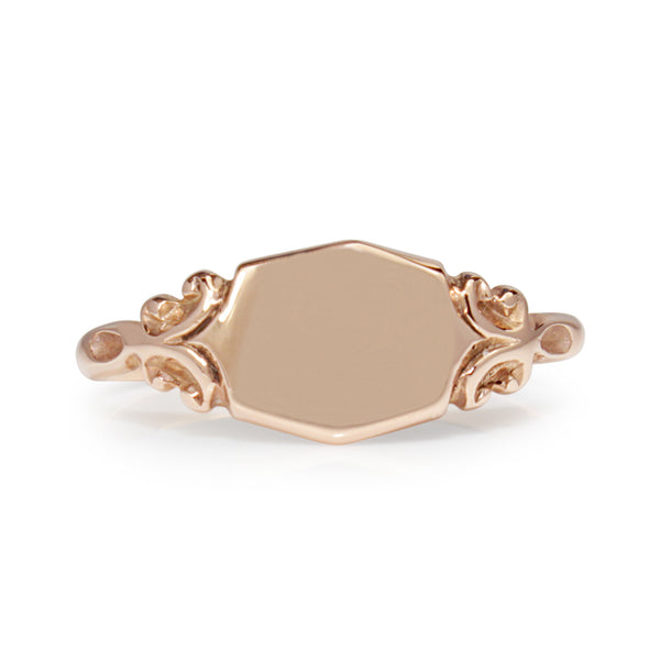 9ct Rose Gold Signet Ring