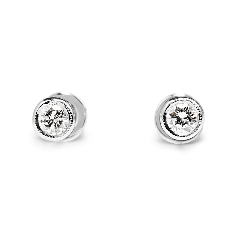 18ct White Gold .30pt Diamond Stud Earrings