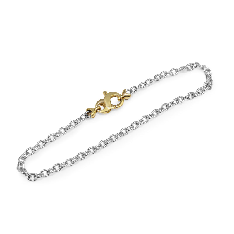 Platinum and 18ct Clasp Fine Bracelet