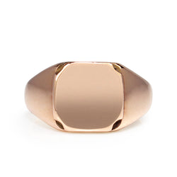 9ct Rose Gold Vintage Signet Ring