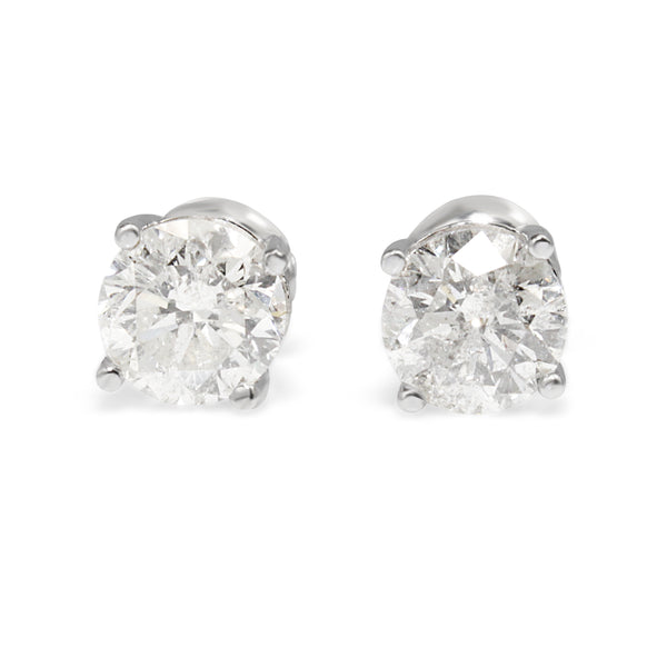 14ct White Gold 1.65ct Diamond Stud Earrings