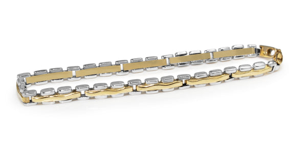 18ct Yellow and White Gold Fancy Link Bracelet