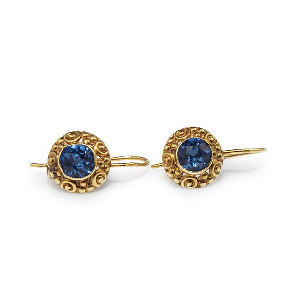 18ct Yellow Gold Vintage Paste Earrings