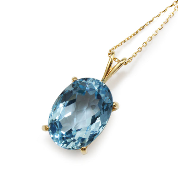 14ct Yellow Gold Topaz Pendant