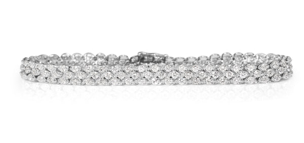14ct White Gold Diamond Bracelet