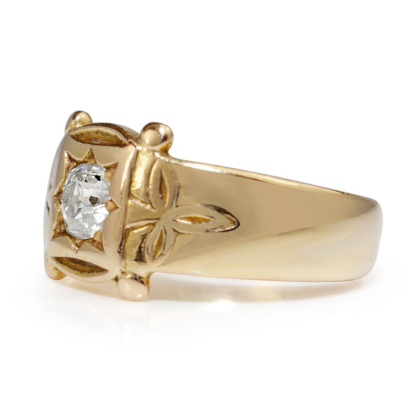 18ct Yellow Gold Antique Old Cut Diamond Ring