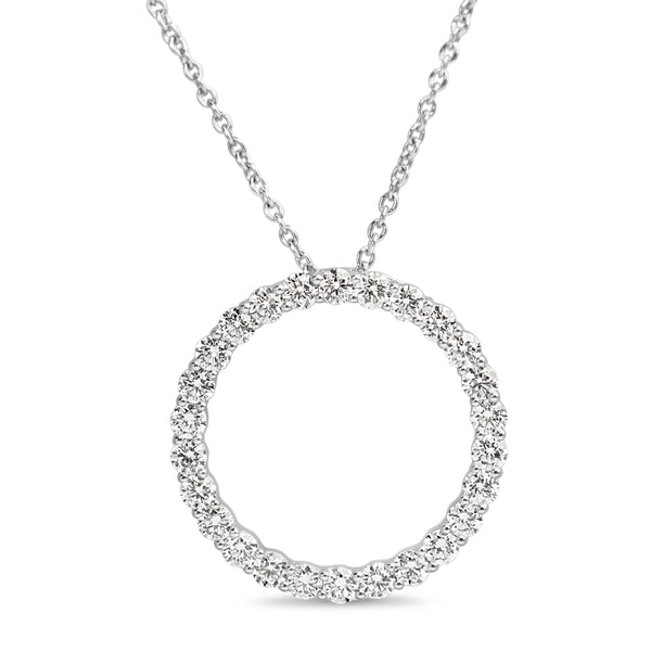 18ct White Gold Circle of Life Diamond Necklace