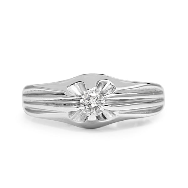 14ct White Gold Vintage Diamond Ring