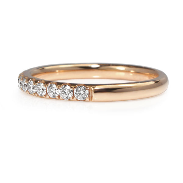 18ct Rose Gold 2.2mm Diamond Half Hoop Band