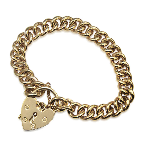 9ct Yellow Gold Solid Curb Link Bracelet