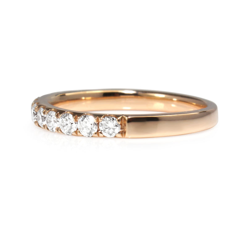 18ct Rose Gold 2.5mm Diamond Half Hoop Band