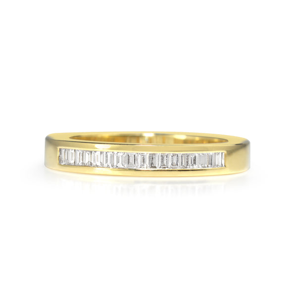 18ct Yellow Gold Baguette Diamond Ring
