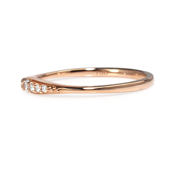 18ct Rose Gold Fine Tapered Diamond Band