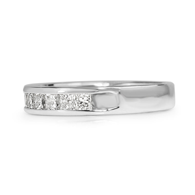 14ct White Gold Diamond Channel Set Band