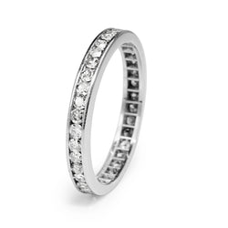 Platinum Vintage All Round Diamond Band