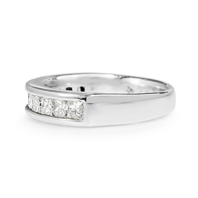 18ct White Gold Diamond Channel Set Band
