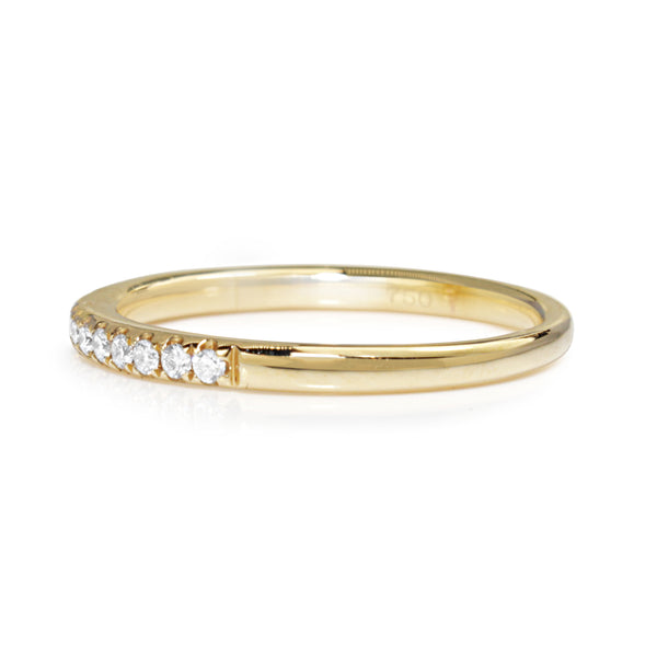 18ct Yellow Gold 1.9mm Diamond Band