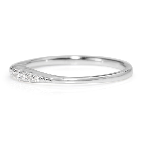 18ct White Gold Fine Tapered Diamond Band