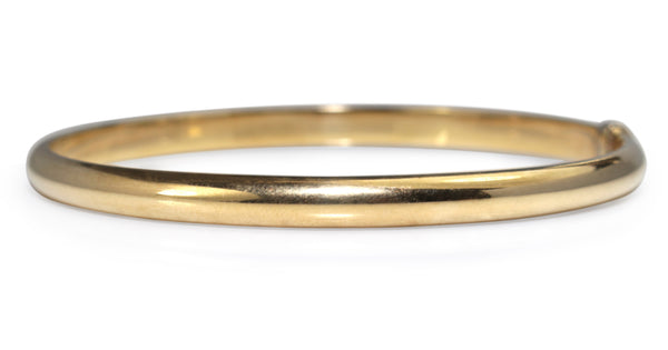 9ct Yellow Gold and Silver Filled Bangle
