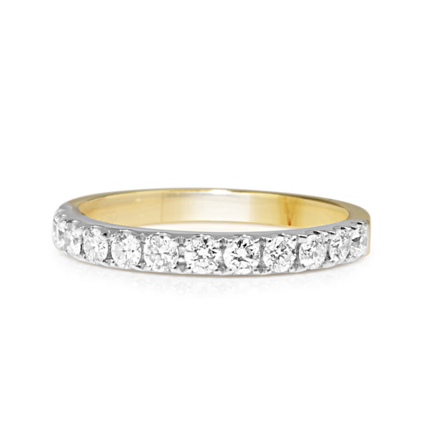 18ct Yellow and White Gold 2.3mm Diamond Band