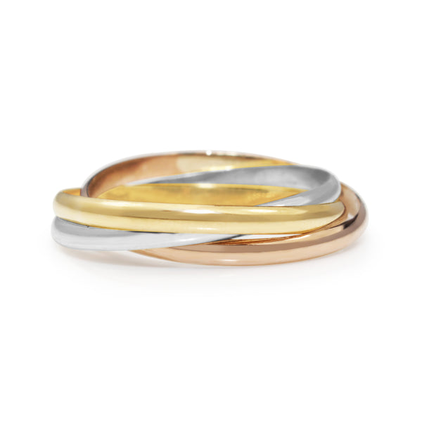 9ct Yellow, Rose and White Gold Russian Wedding Ring