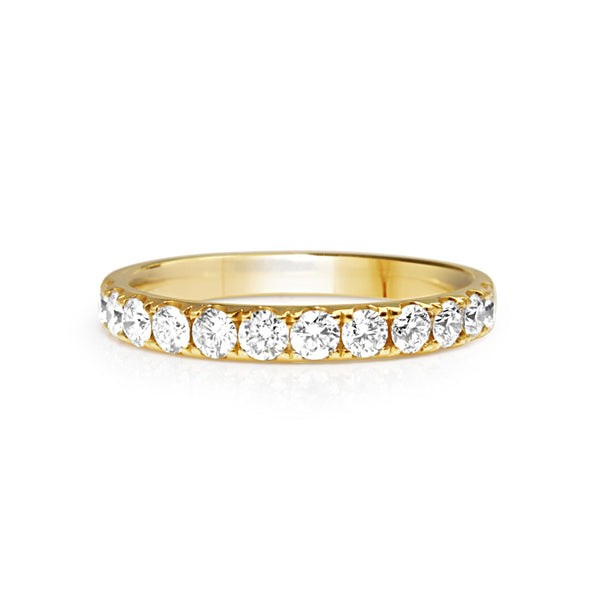 18ct Yellow Gold 2.7mm Diamond Band