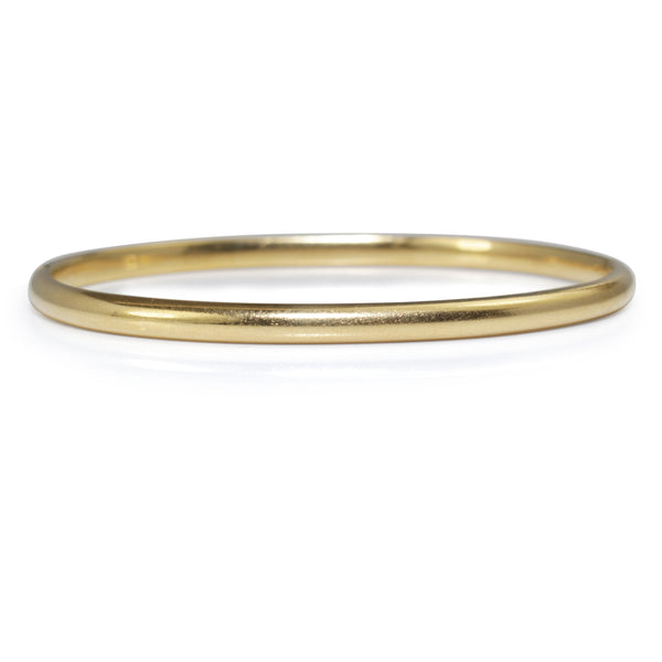 18ct Yellow Gold Estate Oval Hinged Bangle