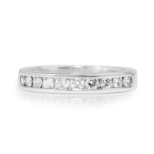 Platinum Channel Set Diamond Band