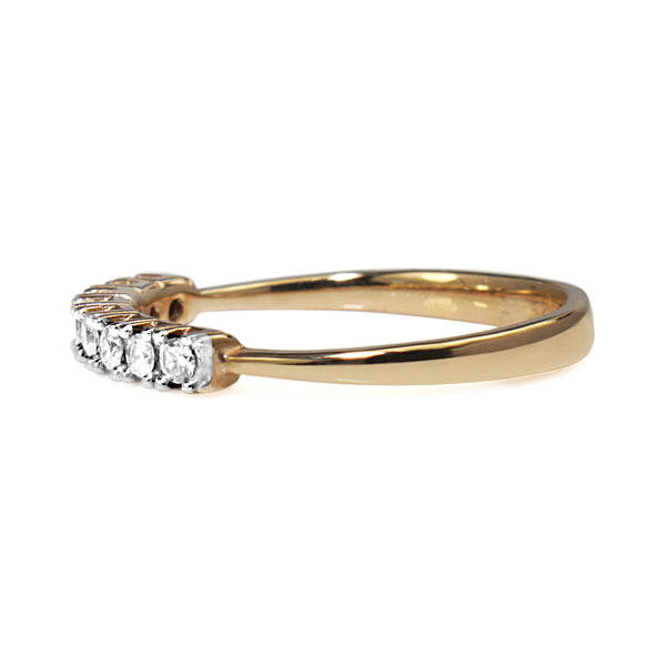 9ct Yellow and White Gold Fine Diamond Band