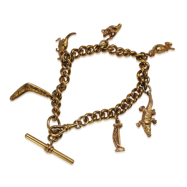 Gilt Charm Bracelet with Australian Charms
