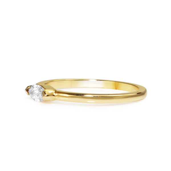 18ct Yellow Gold East West Marquise Solitaire Ring