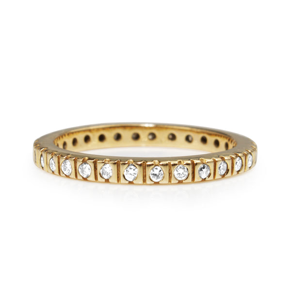 9ct Yellow Gold All Round Diamond Band