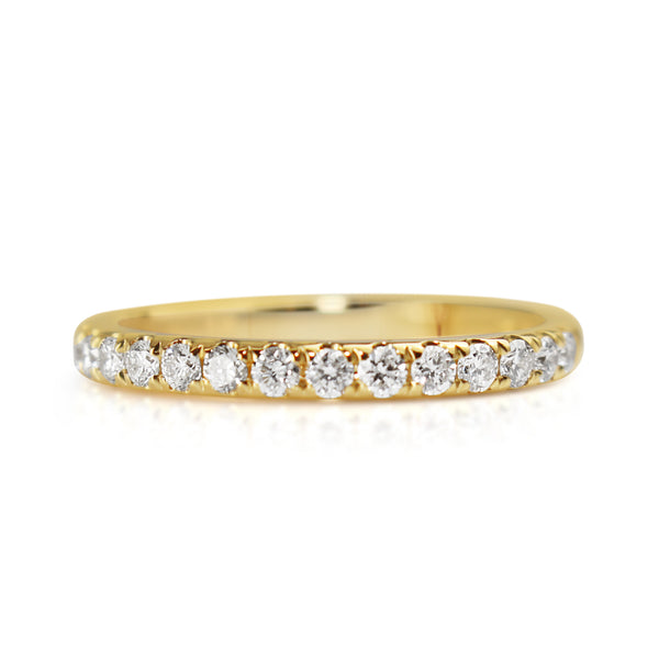 18ct Yellow Gold 2.15mm Diamond Band