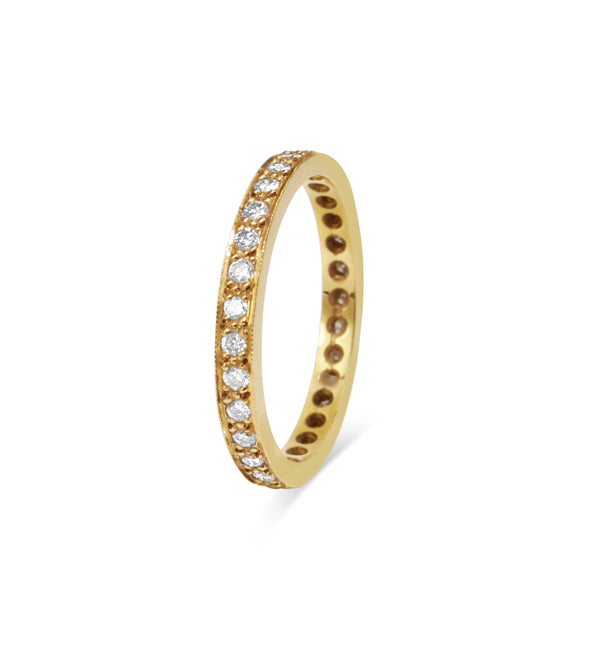 18ct Yellow Gold All Round Diamond Band