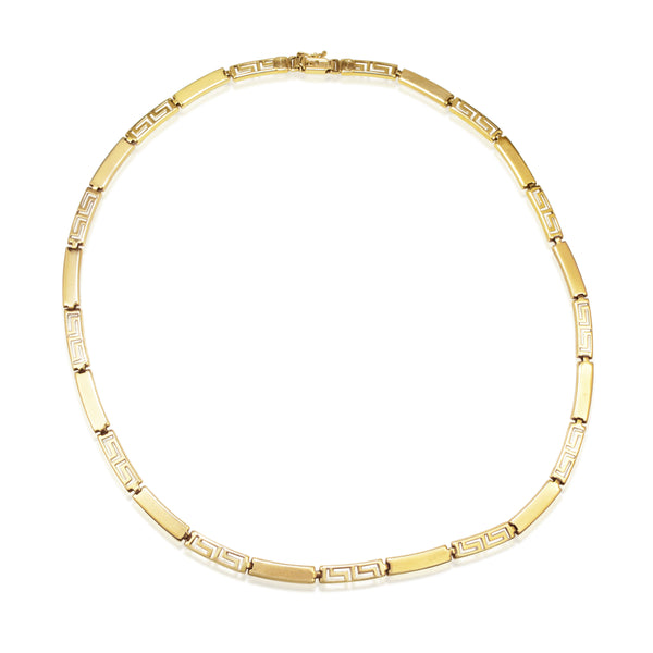 14ct Yellow Gold Greek Style Necklace