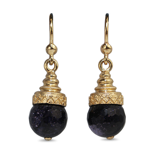 9ct Yellow Gold Goldstone Earrings