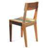 Oak chair in scrapwood fixated