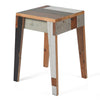 Stool in scrapwood fixated
