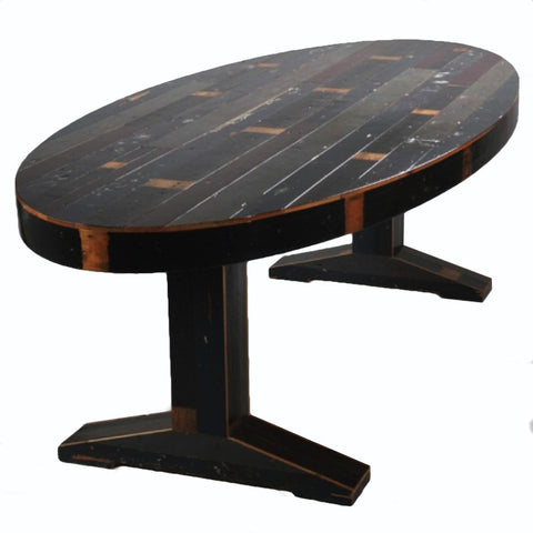 Canteen table Oval In Scrapwood