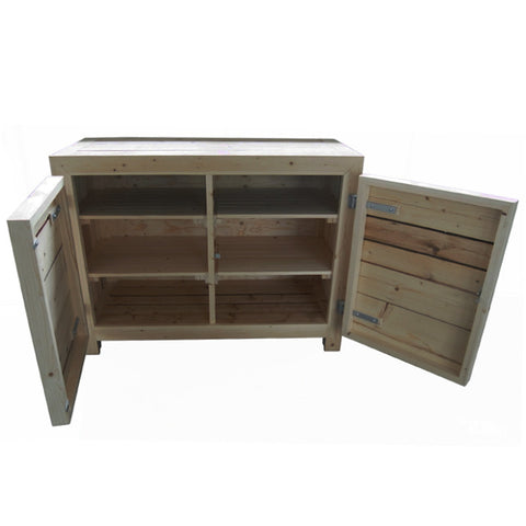 2 Doors Dressoir in scrapwood
