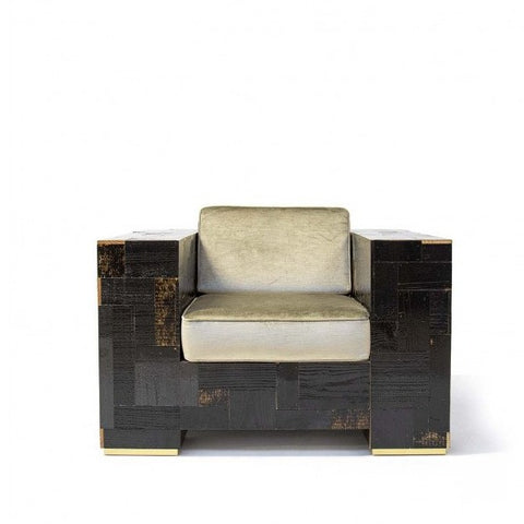 Dark Waste Armchair in Scrapwood
