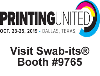 Foam Swab Manufacturer Brings its Swab-its® Retail Line to Printing  United 2019 on October 23-25, 2019 in Booth 9765