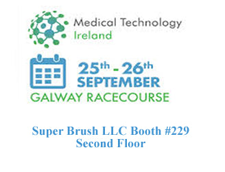 Foam swab manufacturer Super Brush LLC will exhibit in booth #229 at Medical Technology Ireland September 25-26 in Galway