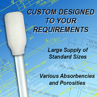 Custom Designed Foam Swabs