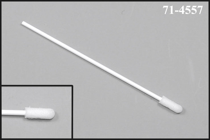"71-4557: 4"" Overall Length Swab with Small Foam Mitt on a Polypropylene Handle"