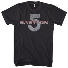 Babylon 5 Mens Black T-shirt
