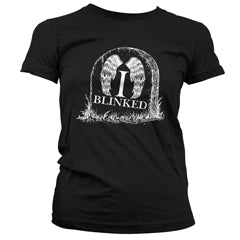 I Blinked — Doctor Who Weeping Angels Ladies Black T-shirt