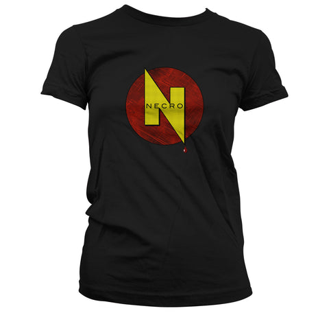 Necro Publications Comic Logo T-Shirt: Women's